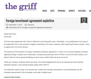 Foreign investment agreement exploitive