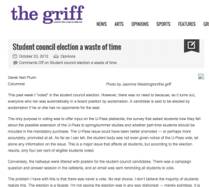 Student council election a waste of time