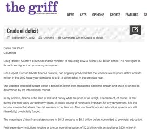 Crude oil deficit